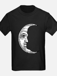 Vintage Crescent Moon T