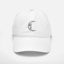 Vintage Crescent Moon Baseball Baseball Cap