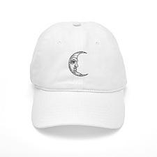 Vintage Crescent Moon Baseball Cap