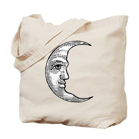 Vintage Crescent Moon Tote Bag