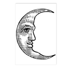 Vintage Crescent Moon Postcards (Package of 8)