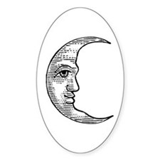 Vintage Crescent Moon Decal