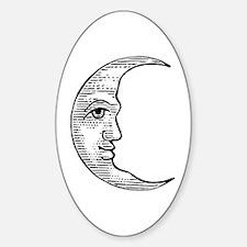 Vintage Crescent Moon Decal
