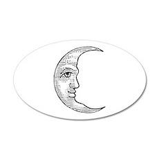 Vintage Crescent Moon 22x14 Oval Wall Peel