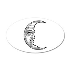Vintage Crescent Moon 22x14 Oval Wall Peel