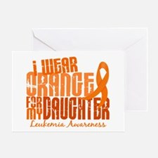 I Wear Orange 6.4 Leukemia Greeting Card