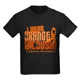 Leukemia Kids T-shirts (Dark)