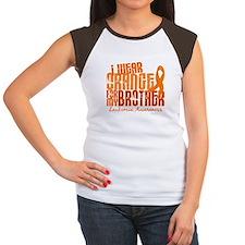 I Wear Orange 6.4 Leukemia Women's Cap Sleeve T-Sh