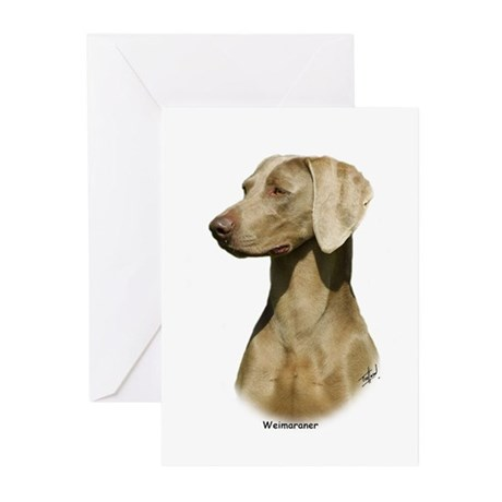 Weimaraner 9W019D-128 Greeting Cards (Pk of 10)