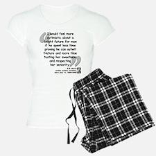 White Nature Quote Pajamas