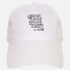 White Nature Quote Baseball Baseball Cap