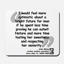 White Nature Quote Mousepad