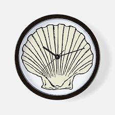 Sea Scallop Shell Wall Clock