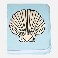 Sea Scallop Shell baby blanket
