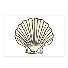 Sea Scallop Shell Postcards (Package of 8)