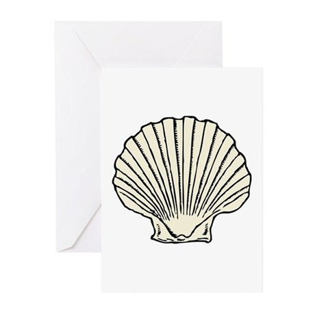 Sea Scallop Shell Greeting Cards (Pk of 20)