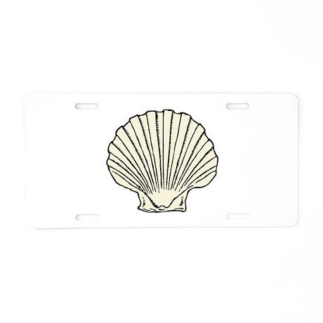 Sea Scallop Shell Aluminum License Plate