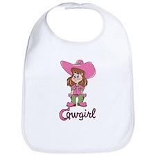 Cute Cowgirl Bib