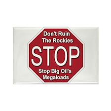 Stop Big Oil's Megaloads Rectangle Magnet (10 pack