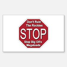 Stop Big Oil's Megaloads Decal