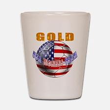 US Soccer Gold Shot Glass