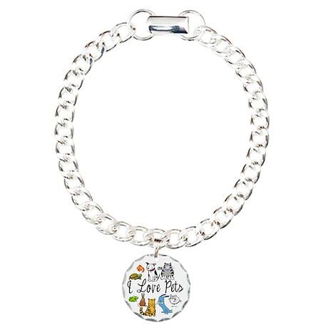 Pet Lover Charm Bracelet, One Charm