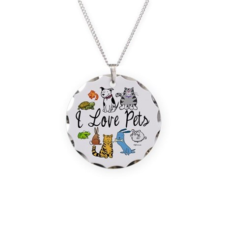 Pet Lover Necklace Circle Charm