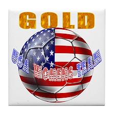 US Soccer Gold Tile Coaster
