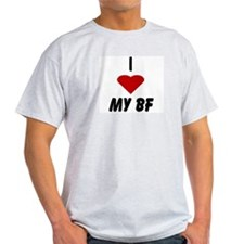 I heart My BF (Boyfriend) Ash Grey T-Shirt