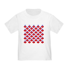 hearts & crowns (red/blue) T