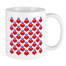 hearts & crowns (red/blue) Mug