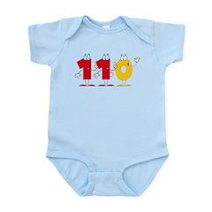 Happy Number 110 Infant Bodysuit
