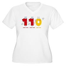 Happy Number 110 Women's Plus Size V-Neck T-Shirt