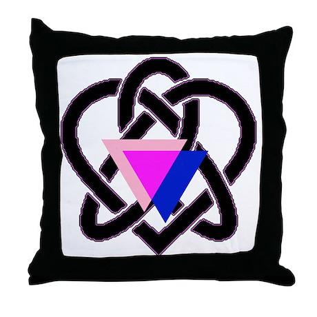 celtic heart Throw Pillow