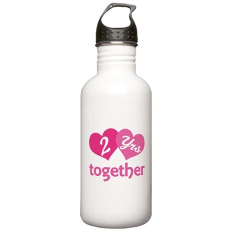 2nd Anniversary Hearts Stainless Water Bottle 1.0L