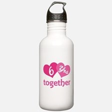 6th Anniversary Hearts Water Bottle