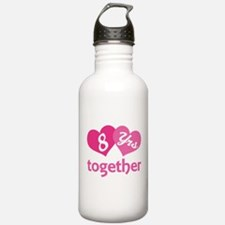 8th Anniversary Hearts Water Bottle