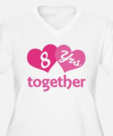 8th Anniversary Hearts T-Shirt