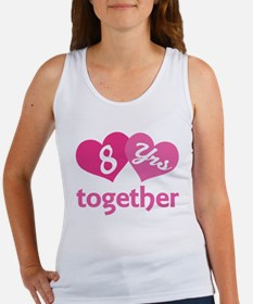 8th Anniversary Hearts Women's Tank Top