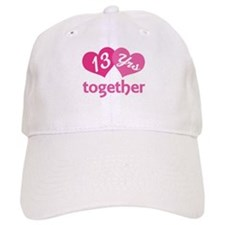 13th Anniversary Hearts Baseball Cap