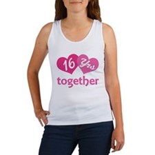 16th Anniversary Hearts Women's Tank Top