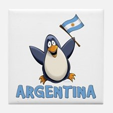 Argentina Penguin Tile Coaster