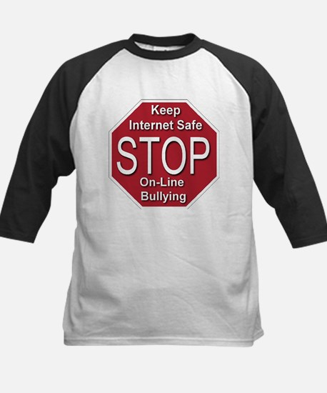 Stop On-line Bullying Kids Baseball Jersey