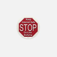 Stop On-line Bullying Mini Button (10 pack)