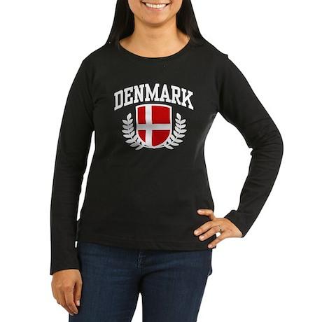 Denmark Women's Long Sleeve Dark T-Shirt