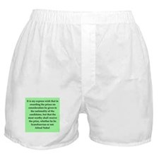 Alfred Nobel Quotes Boxer Shorts