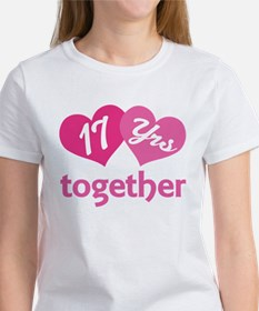 17th Anniversary Hearts Women's T-Shirt