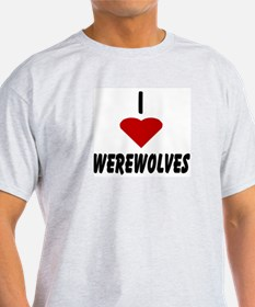 I Heart Werewolves Ash Grey T-Shirt
