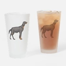 Black and Tan Coonhound Pint Glass