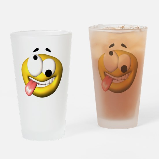 Silly Tongue Out Face Pint Glass